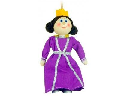 Loutka na tyči hračka ze dřeva - Královna
