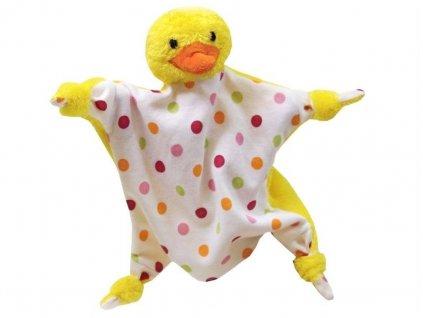 Maňásek - Kačenka uzlík - hračka z textilu