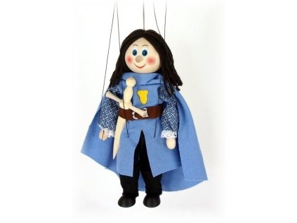 Dřevěná loutka - hračka ze dřeva - Středověký princ