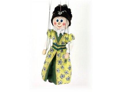 Dřevěná loutka - hračka ze dřeva - Šlechtična zelená