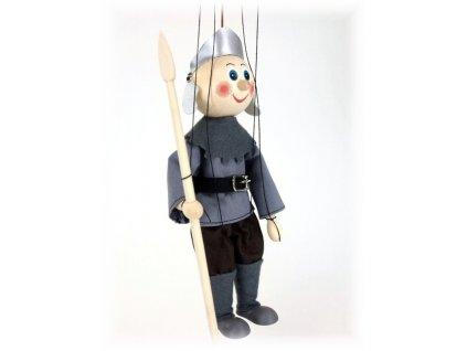 Dřevěná loutka - hračka ze dřeva - Zbrojnoš
