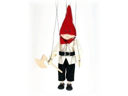 Dřevěná loutka - hračka ze dřeva - Kat