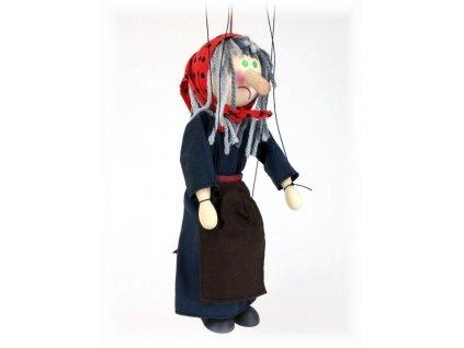 Dřevěná loutka - hračka ze dřeva - Ježibaba