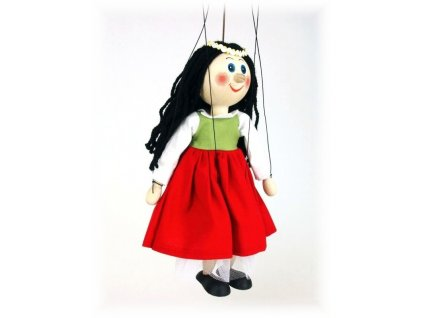 Dřevěná loutka - hračka ze dřeva - Tanečnice