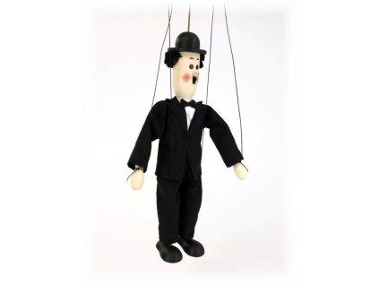 Dřevěná loutka - hračka ze dřeva - Chaplin