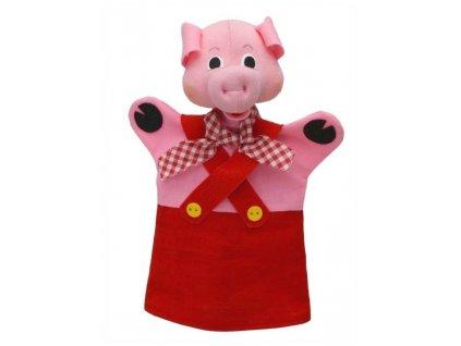 Maňásek - Prasátko Bohouš - hračka z textilu