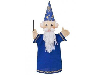 Maňásek - Kouzelník modrý - hračka z textilu