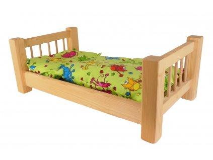POSTÝLKA VELKÁ S PEŘINKOU A POLŠTÁŘEM - generacemi oblíbená dřevěná hračka
