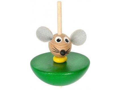 Káča - Myš hračka ze dřeva
