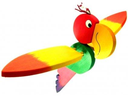 Létací Chocholouš ze dřeva Archie