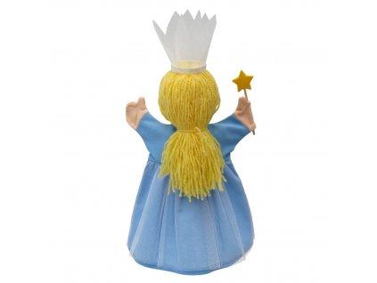 Maňásek - Víla květinová sv.modrá - hračka z textilu