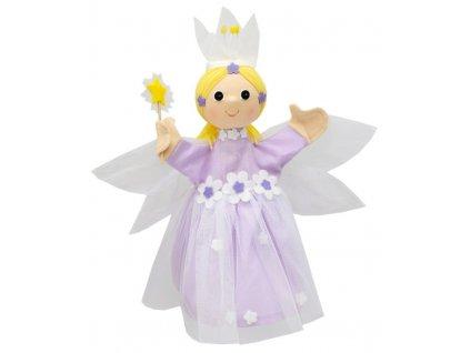 Maňásek - Víla květinová sv.fialová - hračka z textilu
