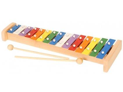 Xylofon 15 tónů hračka ze dřeva