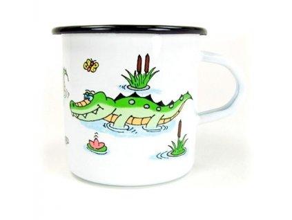 Hrnek velký ze smaltu - Krokodýl