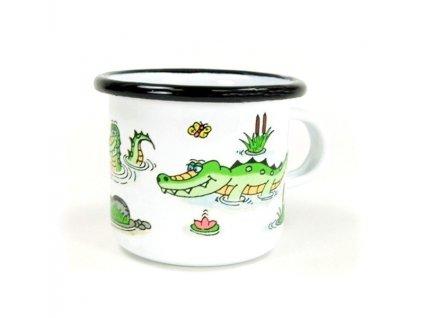 Hrnek malý ze smaltu - Krokodýl