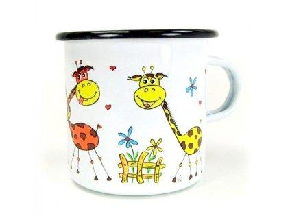 Hrnek velký ze smaltu - Žirafa