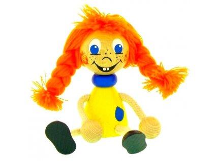 Sedací figurka hračka ze dřeva - Mary
