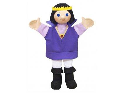 Maňásek - Princ Richard fialový - hračka z textilu