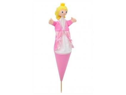 Velký kornoutový maňásek - Princezna Julie - hračka z textilu