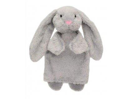 Maňásek pro nejmenší - Králíček Ušáček šedý - hračka z textilu