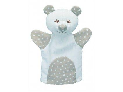 Maňásek pro nejmenší - Medvěd kytičky - hračka z textilu