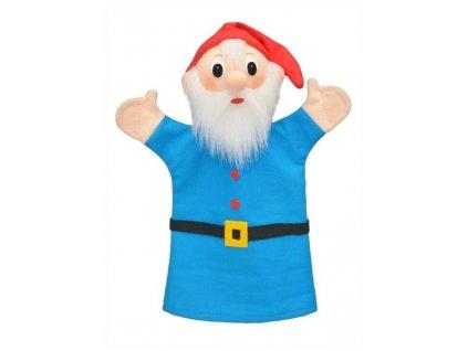 Maňásek - Trpaslík modrý - hračka z textilu