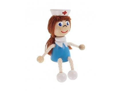 50967 dřevěná sedací figurka zdravotní sestra