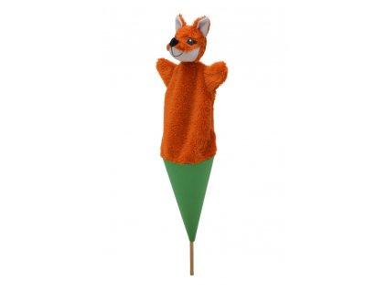 71331 textilní kornout liška (1)
