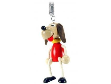 40206 (5) figurka na pruzine ze dreva pes pro deti