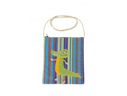Dětská textilní taška - krokodýl