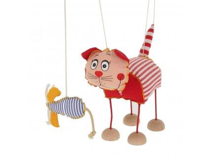 velká marioneta pro děti kočka