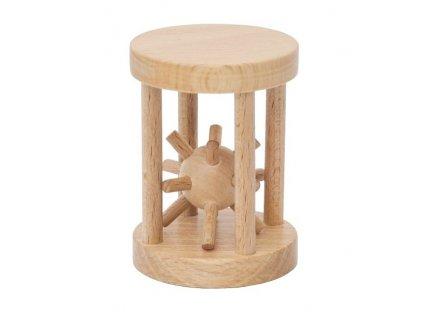 66045 dřevěný ježek v kleci hlavolam