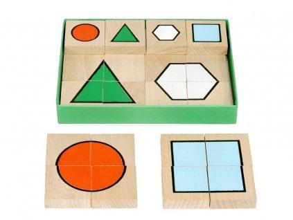 66022 dřevěné skládací puzzle geometrické tvary (1)