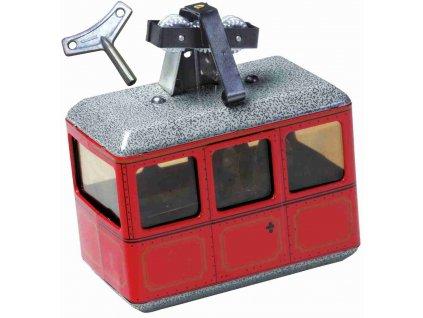 lanovka mechanická hračka na klíček