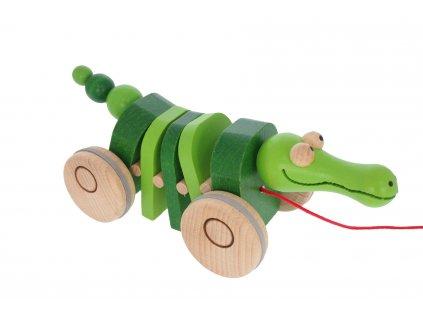 68103 krokodýl tahcí dřevěný výrobek pro děti