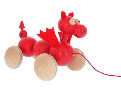 68112 tahačka ze dřeva červený dráček pro děti (1)
