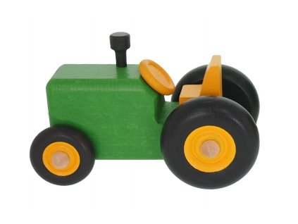 68130 dřevěný zelený traktůrek hračka (2)