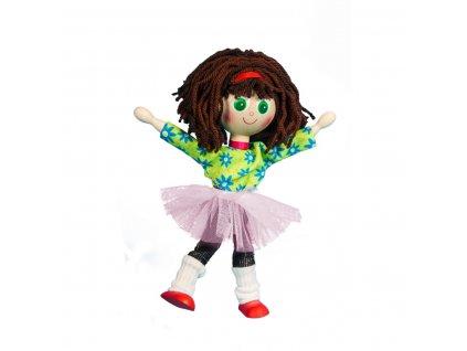 63285 baletka ohebná dřevěná panenka