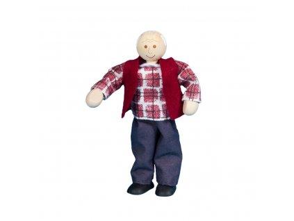 63309 ohebný panáček dědeček hračka ze dřeva