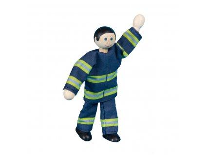 63317 ohebný panáček pro děti hračka hasič