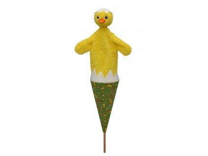 71380 kuře v kornoutu maňásek pro děti (1)