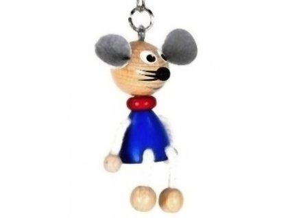 Figurka přívěšek ze dřeva - Myš