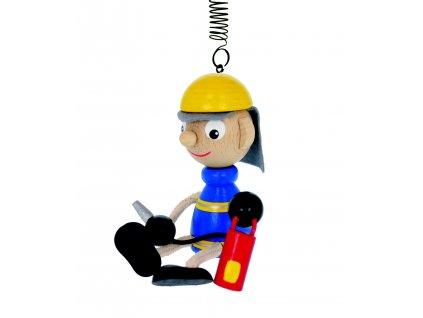 HASIČ - oblíbená a vtipná dekorace. Figurka na pružince vyrobená k pobavení Nejen dětí, ale i dospělých:)