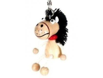Figurka přívěšek ze dřeva - Kůň