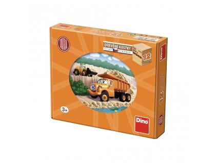 TATRA  - dřevěné kostky 12 dílů. Geniální, jednoduchá, nadčasová, prostě všemi dětmi milovaná česká hračka.