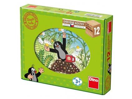 KRTEK A PŘÁTELÉ - dřevěné kostky 12 dílů. Geniální, jednoduchá, nadčasová, prostě všemi dětmi milovaná česká hračka.