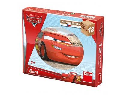 CARS  - dřevěné kostky 12 dílů. Geniální, jednoduchá, nadčasová, prostě všemi dětmi milovaná česká hračka.