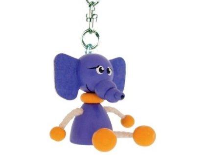 Figurka přívěšek ze dřeva - Slon