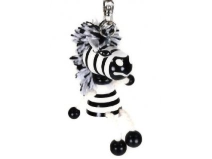 Figurka přívěšek ze dřeva - Zebra