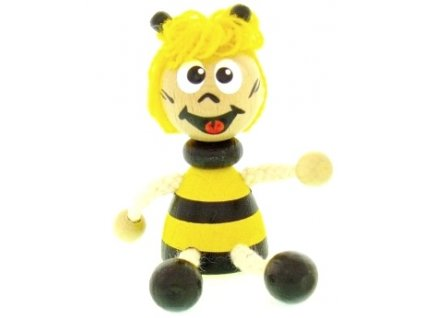 Figurka magnetka ze dřeva - Včelka
